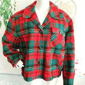 Pendleton Knockabout Plaid Wool Jacket Zip XL
